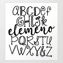 Elemeno Art Print