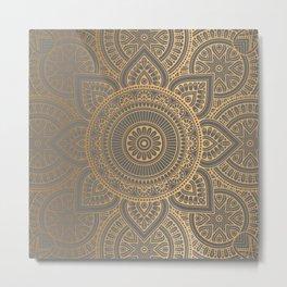 Gold Mandala 4 Metal Print