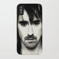 lee pace iPhone & iPod Cases featuring Pace Lee in watercolors by Fatima Alshaali