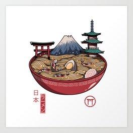 A Japanese Ramen Art Print