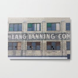 Lang Tanning Co Metal Print