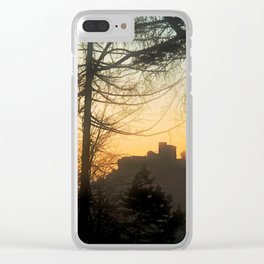 Trifels castle at evening Clear iPhone Case
