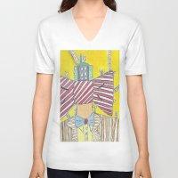 "bows V-neck T-shirts featuring ""Bows""  Acrylic On Canvas by Latidra Washington"