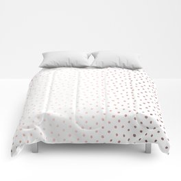 Cool Rose Gold Polka Dots Comforters
