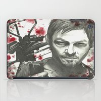 daryl dixon iPad Cases featuring Daryl Dixon by LisilV