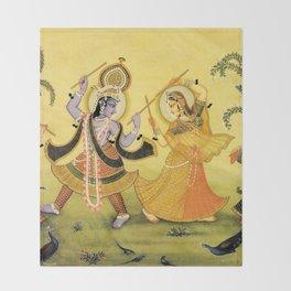 Krishna - Hindu Throw Blanket