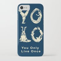 yolo iPhone & iPod Cases featuring YOLO by Coffee Man