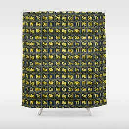 Elements of the Periodic Table Shower Curtain