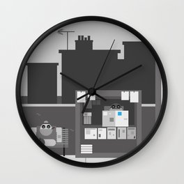 Another Grey Day Wall Clock