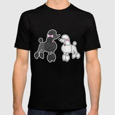 Pretty Poodles Mens Fitted Tee Black SMALL