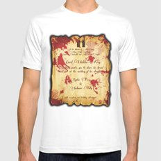 Red Wedding Mens Fitted Tee White MEDIUM