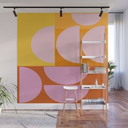 Geometric Sunset Wall Mural