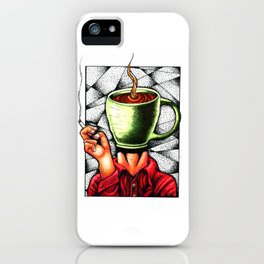 coffee head iPhone Case