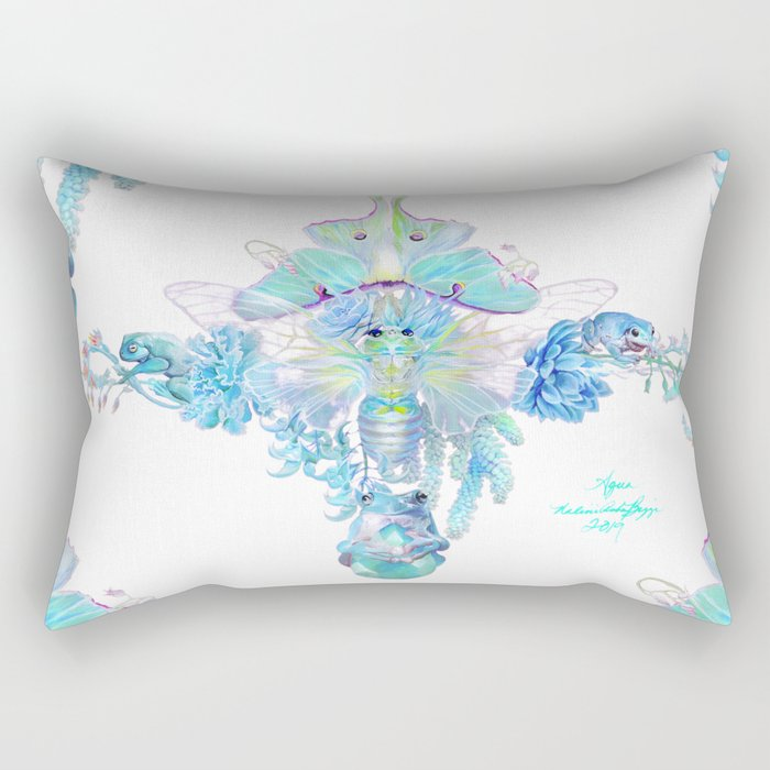Aqua Chalcedony Rectangular Pillow