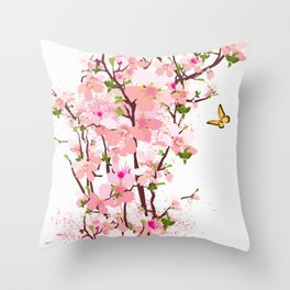 spring flowering Throw Pillow