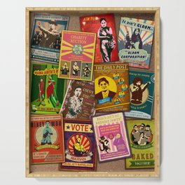 The Good News - Retro Posters Serving Tray