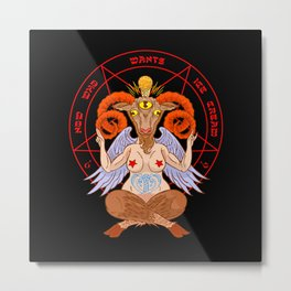 Body-positive Baphomet Metal Print
