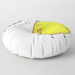 Chick Me Out! by dana alfonso Floor Pillow