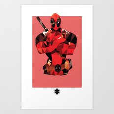 Deadpool Polygon Mesh Art Print