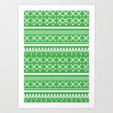 Christmas Jumper Green Art Print