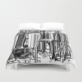 Abstract City #2 Duvet Cover