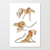 cheetah Canvas Prints featuring Cheetah by Jemma Salume