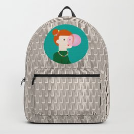 The girl and the bubble gum Backpack