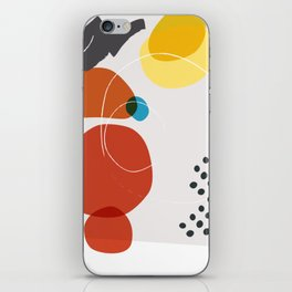 Shape & Hue Series No. 2 – Yellow, Orange & Blue Modern Abstract iPhone Skin