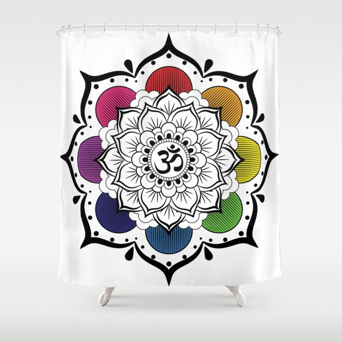 Om Mandala Shower Curtain