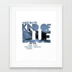 Kind Of Blue - Miles Davis / Album Cover Art LP Poster  Framed Art Print