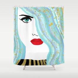 Francesca Has Mermaid Hair Shower Curtain