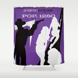 Hardboiled :: Pop. 1280 :: Jim Thompson Shower Curtain