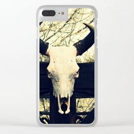 Cow Bones Clear iPhone Case
