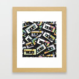 Mixtapes for My Love 80s Old School Cassette Tape Pop Art Framed Art Print