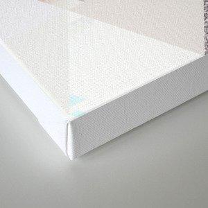 Triangles in glittering Rose quartz - pink glitter triangle pattern Canvas Print