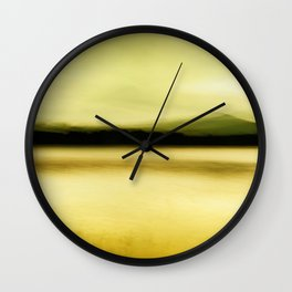 Green Lake Wall Clock