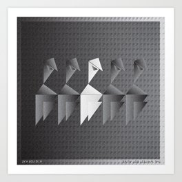 Music in Monogeometry : The Whitest Boy Alive Art Print