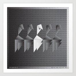 Music in Monogeometry : The Whitest Boy Alive Art Print