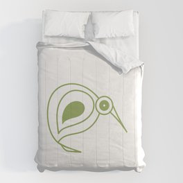 Green kiwi bird from New Zealand artist Comforters