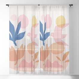 Abstraction_Floral_Nature_Wonderful_Day_002 Sheer Curtain