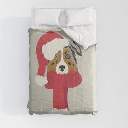 Australian Shepherd Christmas Dog Comforters