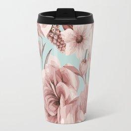 SEPIA ROSES ON GREEN Travel Mug