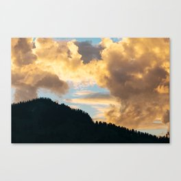 Swiss Alps - Just Before Sunset Canvas Print