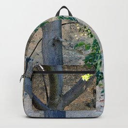 Painted gunge wall and tree Backpack