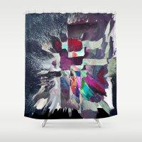 splatter Shower Curtains featuring Splatter by MonsterBrown