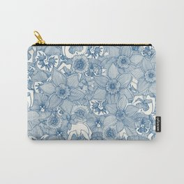 springtime flowers classic blue Carry-All Pouch