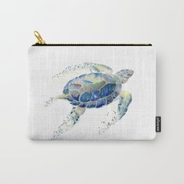 Lone Sea Turtle Watercolor  Carry-All Pouch