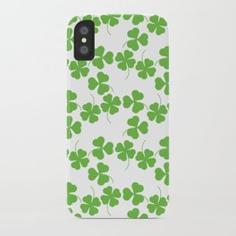 Lucky Shamrock Clover Leaves iPhone Case