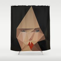 bjork Shower Curtains featuring pretty face by PandaGunda