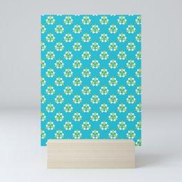Bright summer daisy flower bloom seamless vector pattern. Mini Art Print